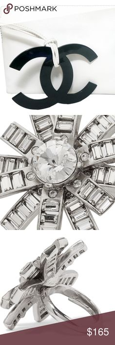 OSCAR DE LA RENTA Crystal Ring Brand New with Tags. Comes with Oscar Box. Adjustable Size. 100% Authentic guaranteed. Oscar de la Renta Jewelry Rings