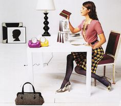 hmm, maybe it wouldn't be so bad living a kate spade ad - a carefree life full colorful shoes and bags. Andy Spade, Colorful Shoes, Office Workspace, Pattern Mixing, Playing Dress Up, Kate Spade, Ads, Advertising, Stylists