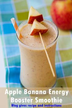 This is an energy booster smoothie made form apples, bananas and peanuts. Bananas and apples are energy booster foods and on the other hand, peanuts are rich in protein...