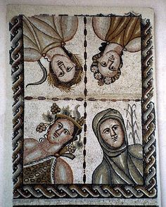 SPAIN / Hispania Romana - Complutum (Espagne) - mosa¨que les Quatre saisons fin IVème siècle
