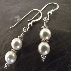 Swarovski pearl sterling silver earrings - I could make these