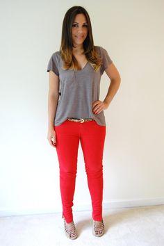 looks com calça vermelhas