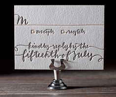 Letterpress Wedding Invitations   String Calligraphy Design   Bella Figura Letterpress