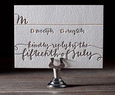 Letterpress Wedding Invitations | String Calligraphy Design | Bella Figura Letterpress