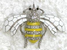 Clear Rhinestone Crystal Bumblebee Insect Bug Beetle Pin Brooch C282 | eBay