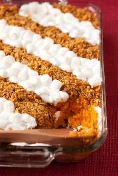 Browned Butter Sweet Potato Casserole- --- I would add some extra pecans and brown sugar in actual potato mixture - not just be so greedy with the topping