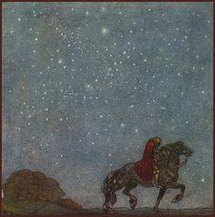 illustration for Among Elves and Trolls by John Bauer 1912