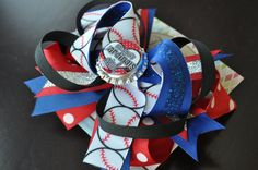 St Louis Cardinals Bottle Cap Bow by threepeasboutique on Etsy, $10.00