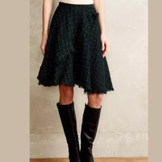 NWOT Anthropologie Eva Franco tweed skirt size 4 Never worn, perfect condition Anthropologie skirt by designer Eva Franco. Anthropologie Skirts