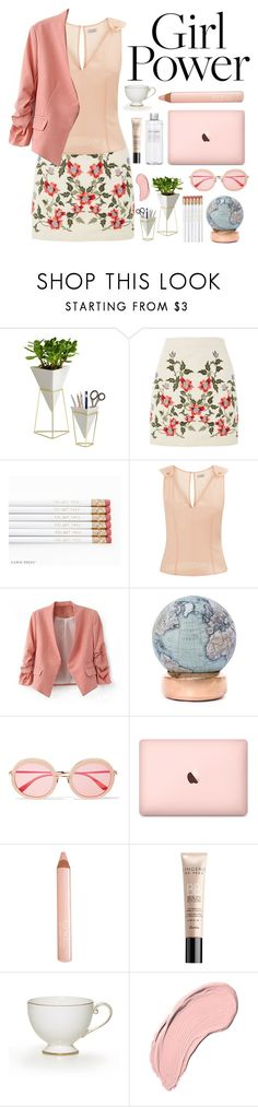 """""""Girl Power"""" by essentiallyessence ❤ liked on Polyvore featuring Umbra, Topshop, La Perla, Bellerby & Co, Sunday Somewhere, Muji, Trish McEvoy, Guerlain and NYX"""