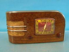 RARE TRUETONE D 2210 Antique Tube Radio Deco Wood Finish Metal Cabinet Sparton | eBay