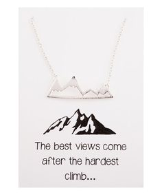 Silvertone Best View Necklace & Card ==
