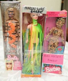 Hilarious party idea... Barbie makeover party... Like a white elephant party, but exchanging made over Barbies.
