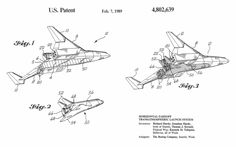 Transatmospheric Launch System - Boeing 1989 Federal Way, Patent Drawing, Technical Drawing, Product Launch, Tools, Art Prints, Drawings, Plane, Art Impressions