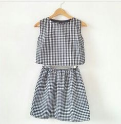 Organic cotton gingham two piece set Coord skirt by keeboutique! Summer Outfits, Cute Outfits, Summer Dresses, Matching Top And Skirt, Matching Set, Inspiration Mode, Spring Summer Fashion, Passion For Fashion, Organic Cotton