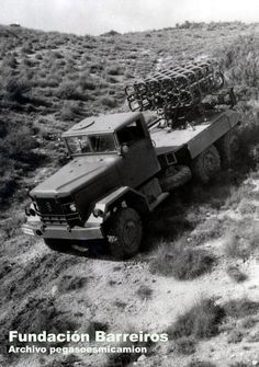 Barreiros Panter III of 1965 manufacture with a MLRS. The number in a Spanish MLRS designation and referenced the number of launching cells in each. refers to the rockets it fired, Mark 3 Diesel, Military Vehicles, Monster Trucks, Spanish, Cold War, Rockets, Number, Retro, Van