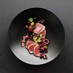 Tuna & cherries! Sushi grade tune marinated in freshly squeezed cherry juice, then pan fried in sesame oil. Served with a tuna tartare,…