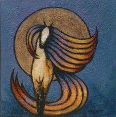 horse art Harvest Moon Horse fine art print by by LancasterArt, $39.00