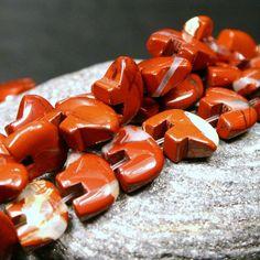 10 Pcs. Red Jasper Zuni Style Bear Fetish Beads by runonthesun, $2.50