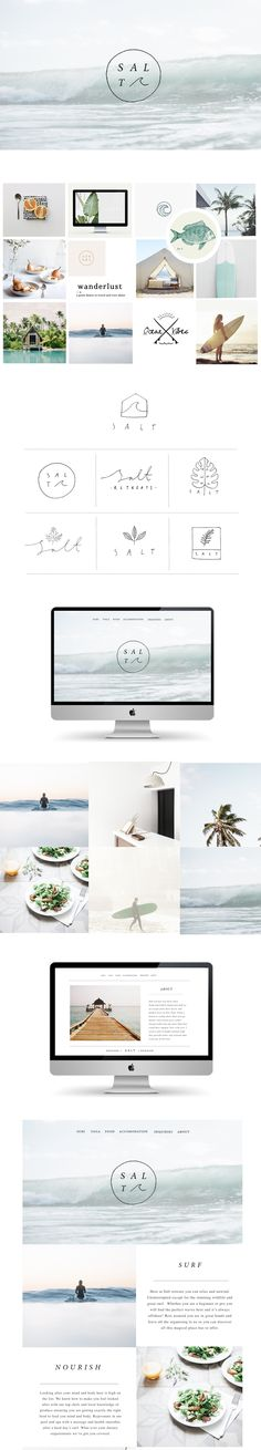 Branding and website design for Salt retreats by Ryn Frank www.rynfrankdesign.co.uk