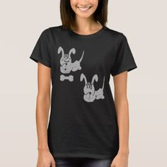 ENQINGDOG BLACK T-SHIRT  $25.70  by Annegendraft  - cyo diy customize personalize unique