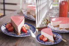 Rabarbercheesecake utan ugn