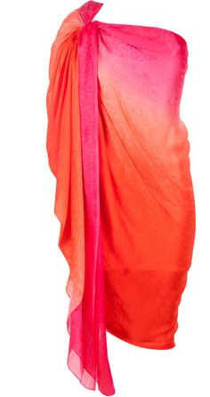 Orange cowl draped tunic available only at Pernia's Pop-Up Shop.