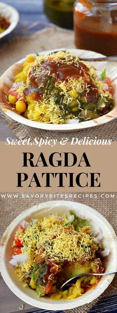 Indian street food at its best -Ragda Pattice! #ragdapattice #vegetarian #recipe #homemade #chaat #indian