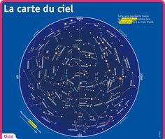 carte du ciel hemisphere nord