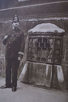 The London Stone in Cannon Street is the oldest piece of London. It was moved in the 1700's from the south side of the street to the north side and built into the wall of the former Church of Saint Swithun before the church was bombed in WW2, yet the stone was left unharmed. Full history here