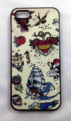 Old School Tat iPhone 4/4s, 5/5s, & 5c Snap-on Case by ULEKstore on Etsy https://www.etsy.com/listing/197980210/old-school-tat-iphone-44s-55s-5c-snap-on