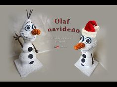 Olaf navideño, reciclaje de papel periódico - Olaf Christmas, recycling of newsprint - YouTube