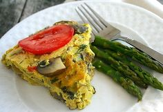 Crustless Tofu Quiche with Mushrooms and Herbs