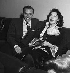 Frank Sinatra e Ava Gardner a Villa d'Este nel 1950.