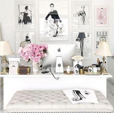 Office ideas | Girly workspace