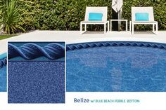 2015 Loop Loc Liner Options - Premier Pool & Spa - Belize with Blue Beach Pebble Bottom