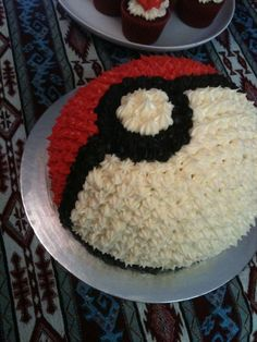 Pokeball cake. One of my nerd friends needs to have a birthday soon so that I can make this! lol