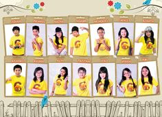 Kids in Yellow - Yearbook photo ideas