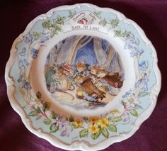 """Royal Doulton Brambly Hedge """"SAFE AT LAST"""" PLATE 2ND"""