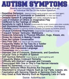Autism Key: provides a list of symptoms on autism and other useful information. Home page has: 1- Home 2- Information about them 3- Autism symptoms 4- Autism organizations: is World wide 5- Message board: discussions different topics. ( must log in to join) 6- Articles: 34 pages of other links on autism 7- How you can contact them: have a question on autism (your e-mail is required).  founded since 2005.