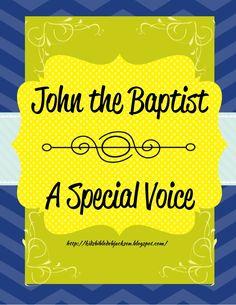 Bible Fun For Kids: Cathy's Corner: John the Baptist: A Special Voice Sunday School Kids, Sunday School Lessons, Youth Lessons, Bible Lessons, Bible Crafts, Kids Crafts, Water Baptism, Kids Church, Church Ideas