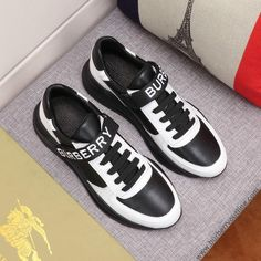 -Black/White Sneakers. -Upper: 40% polyamide, 35% sheep leather, 25% calf leather. -Lining: 85% sheep leather, 15% polyester. -Sole: 100% rubber. -Lace-up and Velcro tab closure. -Size: EU 38, EU 39, EU 40, EU 41, EU 42, EU 43, EU 44. Sheep Leather, Quilted Leather, Calf Leather, Slip On Sneakers, Leather Sneakers, Adidas Sneakers, Black And White Sneakers, Black White, Burberry Outlet Online