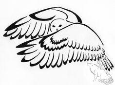 Downbeat Owl Tribal Design by silverheartx