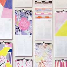 Perpetual Calendar // 12 colorful illustrations by Lisa Rupp