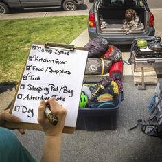 Don't forget the necessities by using a checklist while packing.