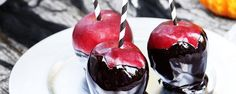 Nightmare Caramel Apples # halloween food ideas'