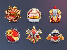 Game Badges Set designed by ILYA. Connect with them on Dribbble; Art Station, Silver Spring, Game Design, Games, Illustration, Google, Image, Gaming, Illustrations