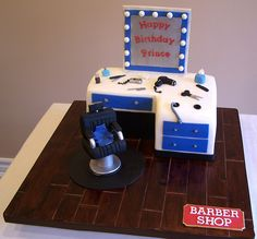 Barber Shop cake | Flickr - Photo Sharing!