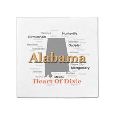 Alabama State Pride Map Silhouette Disposable Napkin