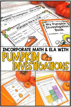 Enjoy pumpkin day with your students with these pumpkin investigation stations and booklet! Integrates math, lea and pumpkin science with a fun Fall activity! Students will love measuring, counting seeds, describing and more! These pumpkin STEM activities are engaging and fun for October and November. 1st, 2nd, 3rd grade #pumpkinday #pumpkinscience #pumpkininvestigation Thanksgiving Classroom Activities, Fun Fall Activities, Stem Activities, Classroom Ideas, Maths Investigations, Pumpkin Stem, November 1st, Environmental Education, Teaching Science